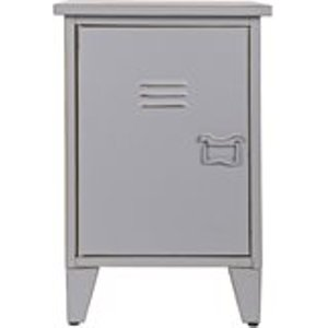 Max Metal Locker Bedside Table In Grey By Woood 400426 G Tables