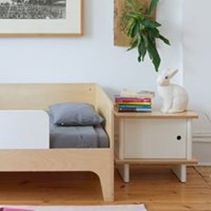 Oeuf Nyc Oeuf Bedside Table In White & Birch 1mlns01 Tables