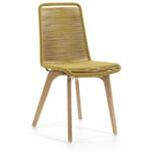 La Forma Pair Of Glendon Rope Dining Chairs In Mustard Cc0546s32