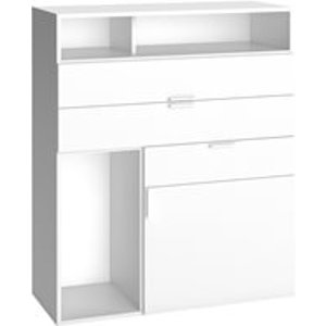 Vox 4 You Sideboard With 3 Drawers & Cupboard In White 4010745 Beds