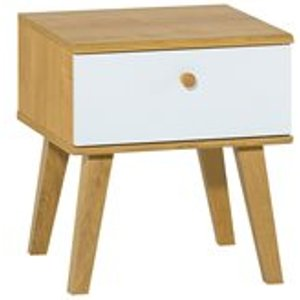 Vox Nature Bedside Table In White & Oak Effect 5020054 Tables