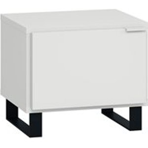 Vox Simple Bedside Table With Door - Grey 4015627 Tables