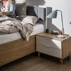 Vox Simple Bedside Table With Drawers - Oak Effect 4015620 Tables