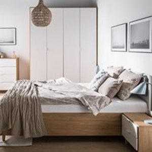 Vox Simple King Size Ottoman Bed - White 4015641 Beds