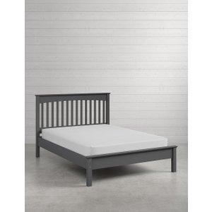 M&S Hastings Dark Grey Bed Frame T654646, Dark Grey