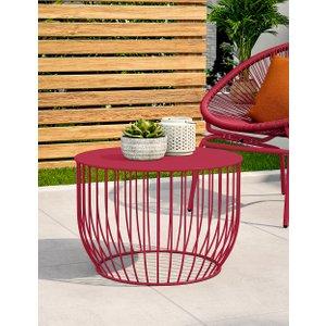 Loft Lois Garden Coffee Table Raspberry T659650b, Raspberry