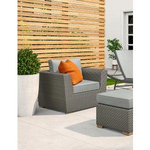 M&s Marlow Garden Chair Grey T659200a, Grey