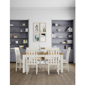 M&s Padstow Ivory Extending Dining Table T653377, Ivory