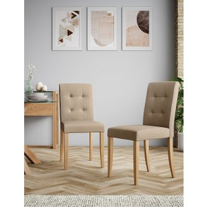 M&s Set Of 2 Colby Dining Chairs Natural T656428, Natural