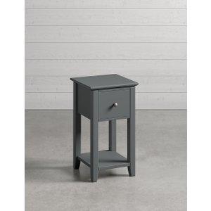 M&S Set Of 2 Hastings Dark Grey Compact Bedside Tables T654642, Dark Grey