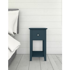 M&s Set Of 2 Hastings Mid-blue Small Bedside Tables Mid Blue T651116, Mid Blue