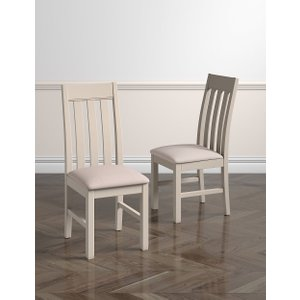 M&s Set Of 2 Padstow Putty Dining Chairs T657874, Putty