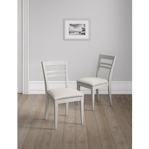 M&s Set Of 2 Sandbanks Dining Chairs Grey T656853a, Grey