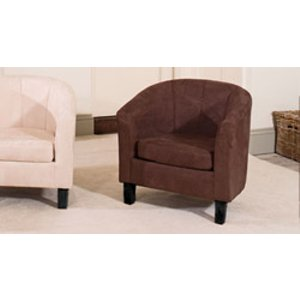 Sofa Company Sorrento Tub Chair Dark Brown