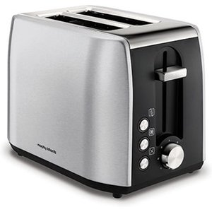 Morphy Richards Equip Brushed Stainless Steel 2 Slice Toaster 222057 Toasters