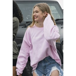 Oversized Sweatshirt - Baby Pink Sian Marie, 'nude','black','baby pink','grey'