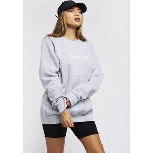 Oversized Sweatshirt - Grey Sian Marie, 'nude','black','baby pink','grey'