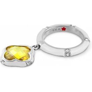 Lauren G Adams White Clover Charm Ring