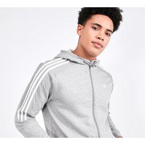 Adidas Originals Mens Grey Radkin Full Zip Hooded Top 40335274 , Grey