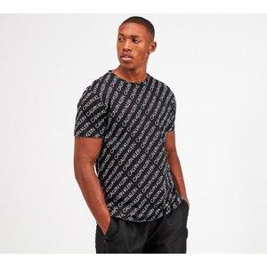Calvin Klein Swim Aop Logo T-shirt 40361224 Mens Tops