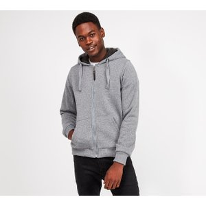 Brave Soul Borg Sweat Hooded Top 40383564 , Grey