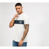 Tommy Jeans Chest Stripe Logo T-shirt 40360216 Mens Tops