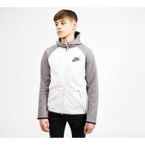 Nike Junior Tech Fleece Full Zip Hooded Top 403083215 , Grey