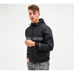 Calvin Klein Jeans Nylon Logo Tape Full Zip Jacket 40411426 Mens Outerwear