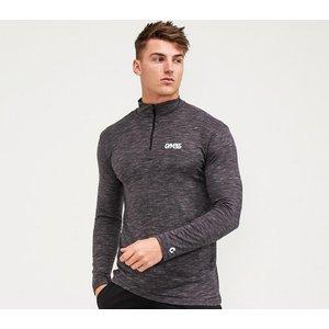 Gym365 Slub 1/4 Zip Long Sleeve T-shirt 4055052105 Mens Tops