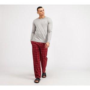 Tommy Hilfiger Long Sleeve Flannel Pyjama Set 40281566, Grey