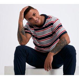 Tommy Jeans Bold Stripe T-shirt - Grey - Size - M 40241554