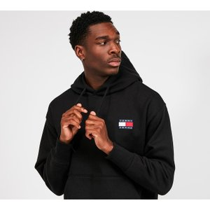 Tommy Jeans Pure Cotton Badge Overhead Hooded Top 40281494 , Black