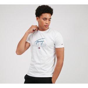 Tommy Jeans Script T-shirt - White - Size - S 40280113