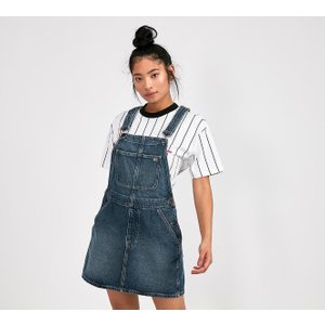 Tommy Jeans Womens Recycled Dungaree Dress - Blue - Size - Xs 40242682
