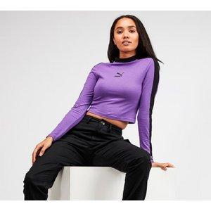 Puma Womens Classic Long Sleeve Crop T-shirt 40311176 Womens Tops