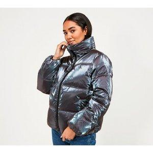 Calvin Klein Jeans Womens Iridescent Gloss Puffer Jacket 40452185 Womens Outerwear