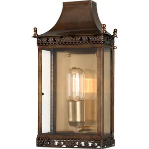 Antique Brass Wall Lantern Brass - 1 X 100w E27 By Happy Homewares HA002117 Lighting, Antique Brass