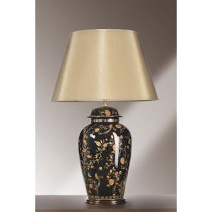 Black Birds Temple Jar Large Table Lamp - 60w/20w Le E27 By Happy Homewares HA001569 Lighting, Black