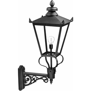 Black Wall Lantern - 1 X 200w E27 By Happy Homewares HA002358 Lighting, Black