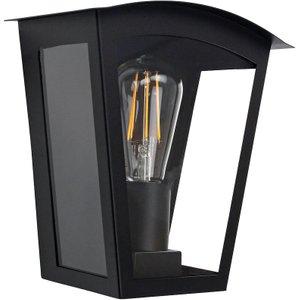 Happy Homewares Contemporary And Industrial Matt Black Outdoor Flush Lantern Wall Light Fitting By Happy H Hh565 Black Wall Hh565 Black Wall, Black