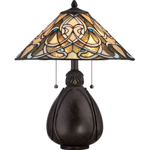 Imperial Bronze Table Lamp - 2 X 75w E27 By Happy Homewares HA001954 Lighting