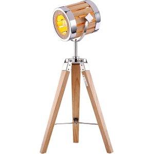 Happy Homewares Industrial Designed Tripod Searchlight Style Floor Lamp With Adjustable Head By Happy Home Brown HA553 TLWO HA553 TLWO Lighting, Brown