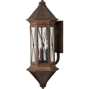 Sienna Extra-large Wall Lantern - 4 X 60w E14 By Happy Homewares Brown HA00942 Lighting, Brown
