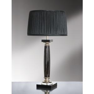 Simona Nero Black Crystal Table Lamp - 60w/20w Le E27 By Happy Homewares HA001641 Lighting