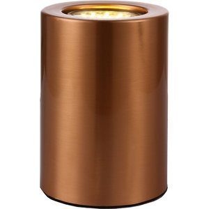 Small And Contemporary Brushed Copper Led Table/floor Lamp Uplighter By Happy Homewares HA3531CO Lighting, Copper