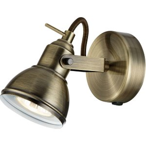 Unique Industrial Designed Antique Brass Wall Spot Light With Switch By Happy Homewares HA1541AB Lighting, Antique Brass