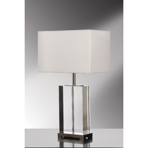 Valentina Clear Crystal Table Lamp - 60w/20w Le E27 By Happy Homewares Transparent HA001647 Lighting