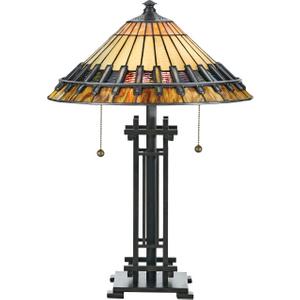 Vintage Bronze Desk Lamp - 2 X 60w E27 By Happy Homewares HA001901 Lighting, Bronze