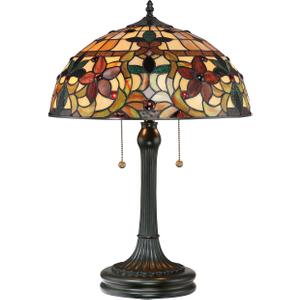 Vintage Bronze Table Lamp - 2 X 60w E27 By Happy Homewares HA001968 Lighting