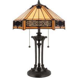 Vintage Bronze Table Lamp - 2 X 60w E27 By Happy Homewares HA001955 Lighting